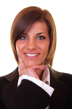 close-up of a beautiful young successful businesswoman smiling Stock Photo - 6928201