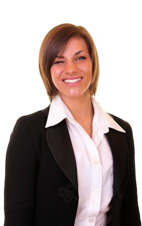 close up of a happy businesswoman winking Stock Photo - 6928187