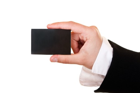 someone in suit holding business card Stock Photo - 7250576
