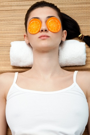 face of women getting a spa treatment Stock Photo - 9129420