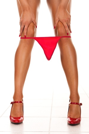 Sexy women legs with underwear  Stock Photo - 9228238