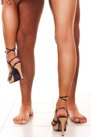 picture of lovers couple with naked legs Stock Photo - 9228239