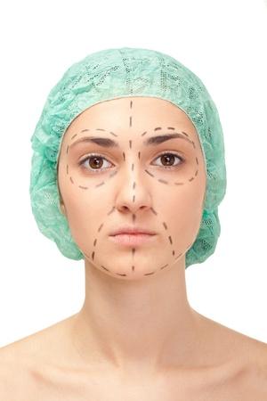 rejuvenate: womans face before plastic surgery, face lift