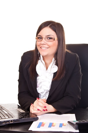 young employer looking at camera, work in office Stock Photo - 9394402