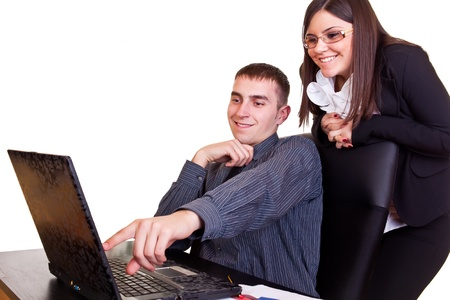 young businesspeople working together  in office photo