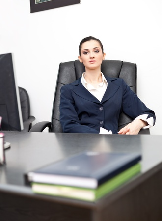 successful young businesswoman in office Stock Photo - 9569211