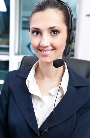 portrait of young beautiful woman with headphone photo