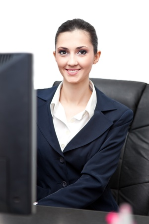 charming young businesswoman in office Stock Photo - 9617085