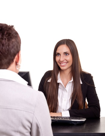 businesswoman on meeting  with a client in office Stock Photo - 9617015