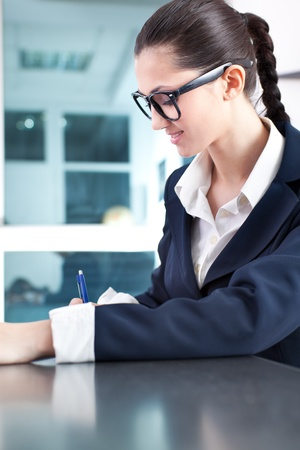 young success businesswoman working in office Stock Photo - 10275120