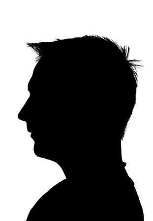 silhouette giovane adulto, isolato su sfondo bianco