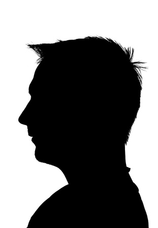 young adult man silhouette,  isolated on white background Stock Photo - 10686326