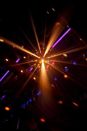shiny disco ball on nightclub photo