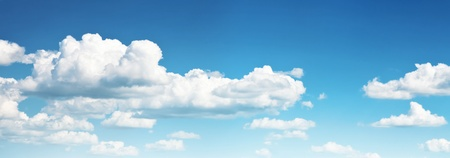 clean air: blue sky with cloud, sky background Stock Photo