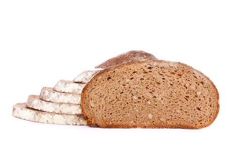 Delicious, fresh, home-made whole wheat bread. photo