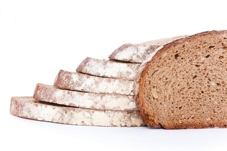 whole wheat bread-cake, isolated on white background photo
