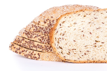 bread composition on white background photo