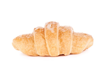 Image of croissant isolated on white photo