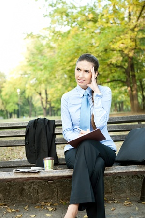 businesswoman having headache, expression face Stock Photo - 11032507