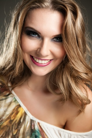 young beautiful girl with great smile Stock Photo - 12283398