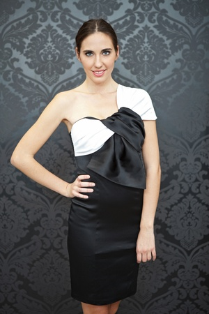 young fashion model in elegance dress photo