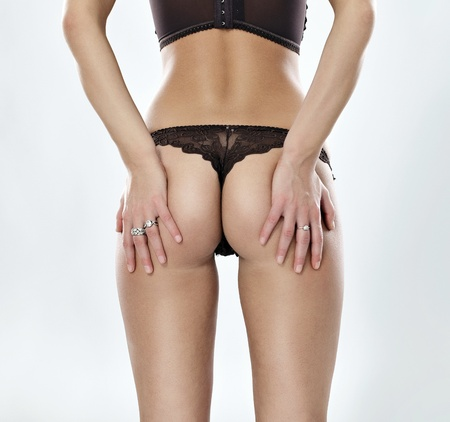 nude female buttocks: female perfect buttock in panties, sexy back