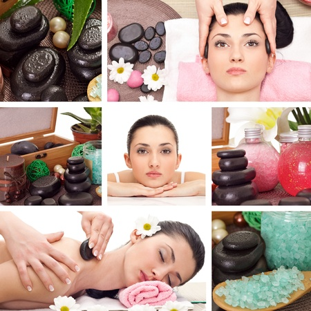 spa collage: Beautiful Spa Collage