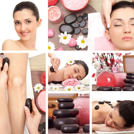 Spa Collage, spa massage photo