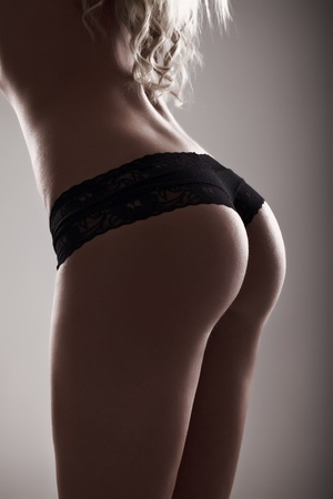 perfect sexy buttocks in black lingerie close-up Stock Photo - 13524608