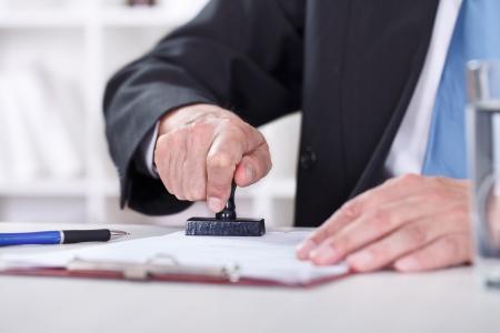 autoridad: Maná, documentos de s de la mano de estampado, primer plano Foto de archivo