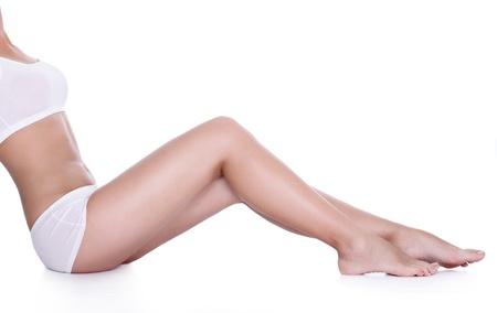 benen: Perfect lange benen met gladde huid Stockfoto