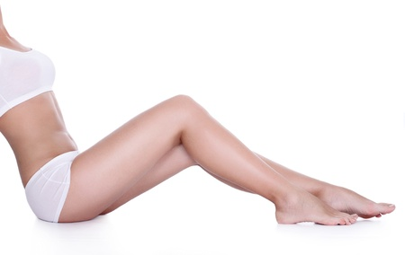 Perfect long legs with smooth skin photo