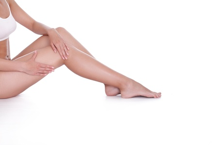 cellulite: Perfect female legs without cellulite