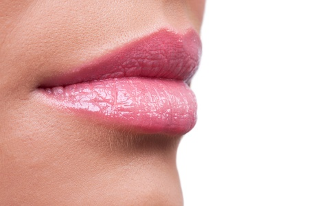 Profile of female sensual lips photo