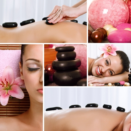 composed: Spa theme photo collage composed of different images