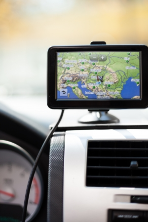 GPS Navigation system in a traveling car. Stock Photo - 15671562