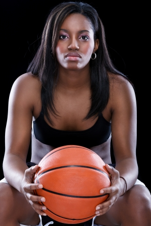 Afro American basketball woman photo