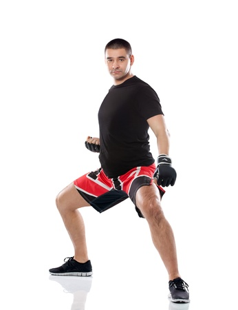 Young sportive man ready for fight photo
