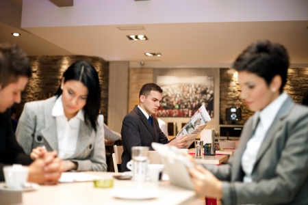 Business people relaxed in cafe, lifestyle Stock Photo - 21260037
