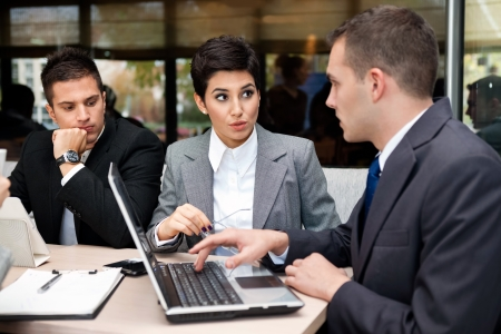 Business people having discussion on meeting Stock Photo - 21260043