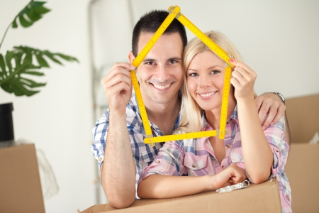 home purchase:  happy concept for new or first home