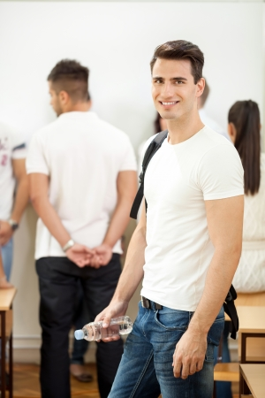 Student in college smiling photo