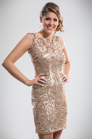 sequin:  beautiful woman wearing in sequin dress