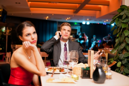 boring:  Young man making an boring  expression gesture on a bad dating