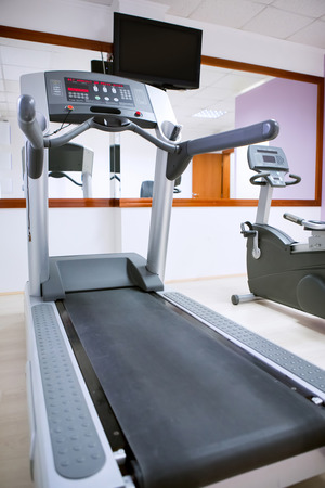 Treadmills in the health club photo