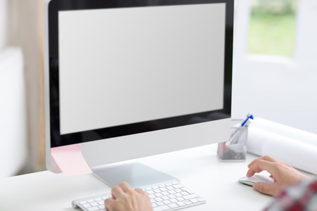 Pusty ekran komputera na biurko