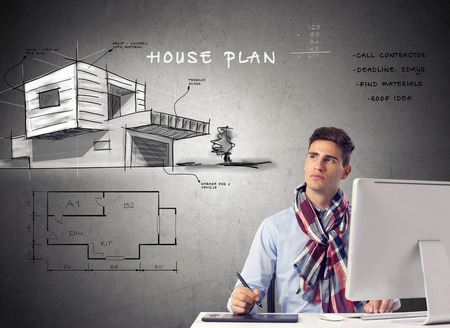 architect house planing -sketch design photo