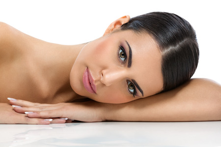 facial  spa:  Beauty woman  with healthy skin
