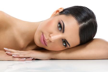 Sağlıklı bir cilt ile Güzellik kadın