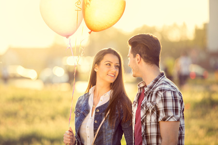 young love couple at romantic dating